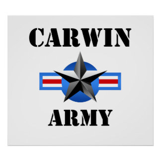 Carwin Army Poster