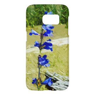 Carys Beardtongue Blue Wildflower Abstract