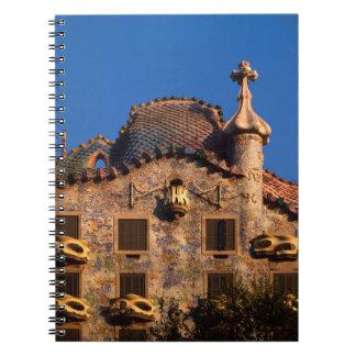 Casa Batilo, Gaudi Architecture, Barcelona, Notebook