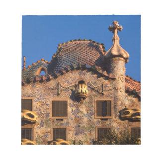 Casa Batilo, Gaudi Architecture, Barcelona, Notepad