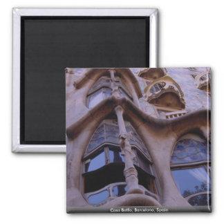 Casa Batllo, Barcelona, Spain Square Magnet