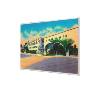 Casa Del Rey Hotel at the Beach, Santa Cruz Stretched Canvas Print