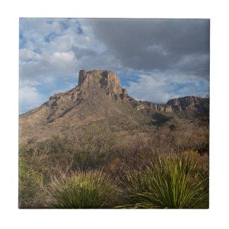Casa Grande Peak, Chisos Basin, Big Bend Small Square Tile
