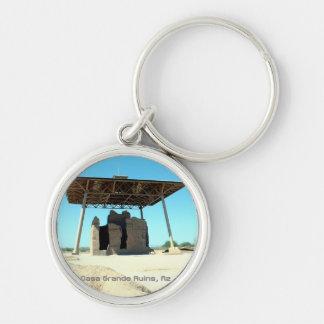 Casa Grande Ruins Silver-Colored Round Key Ring