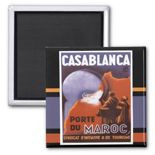 Casablanca Tourism Vintage Magnet