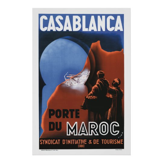 Casablanca Travel Poster