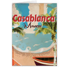 Casablanca Vintage Travel poster Card