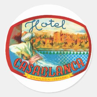 CasablancaHotel Classic Round Sticker