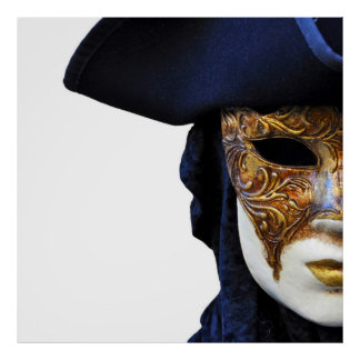 Casanova Theater Venice Mask Square Poster