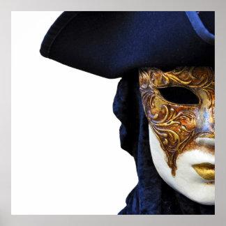 Casanova Theater Venice Mask Square Poster