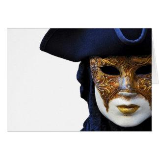 Casanova Venice Carnival Theater Mask Card