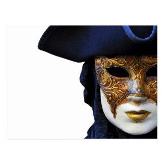 Casanova Venice Carnival Theater Mask Postcard