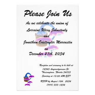 cascade bonsai graphic blue custom invite