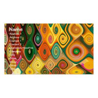 Cascade Cool Abstract Fine Art Fractal Pack Of Standard Business Cards