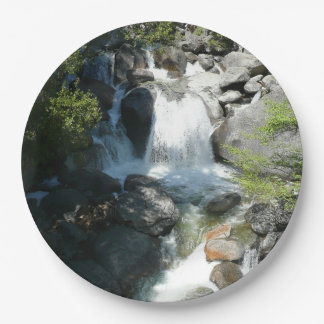 Cascade Falls at Yosemite National Park Paper Plate