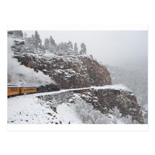 Cascade Gorge Aboard the Polar Express Postcard