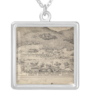 Cascade House in Lake Dunmore Silver Plated Necklace
