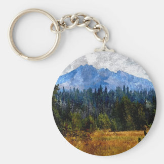 Cascade Mountains Meadow, Oregon Basic Round Button Key Ring