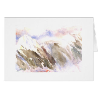 Cascade Mountains mist by Mt. Baker Greeting Card