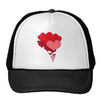 Cascade of Hearts png Mesh Hat