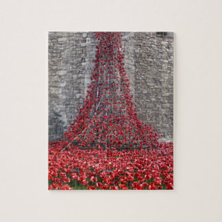 Cascade of Poppies - Tower of London Jigsaw Puzzle