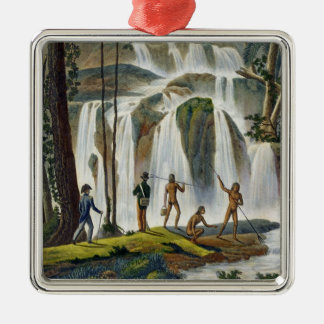 Cascade of Port Praslin, New Ireland, from 'Voyage Christmas Ornament