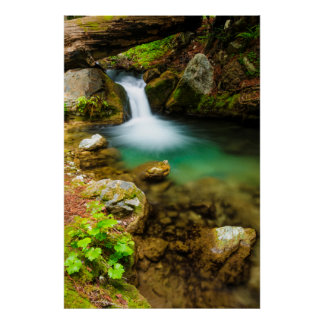 Cascade on Hare Creek, California Poster