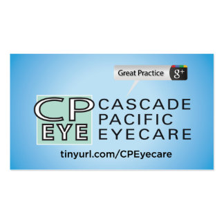 Cascade Pacific Eyecare Pack Of Standard Business Cards
