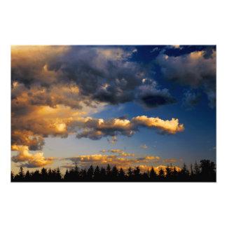 Cascades Rain Clouds Gathering Photo Print