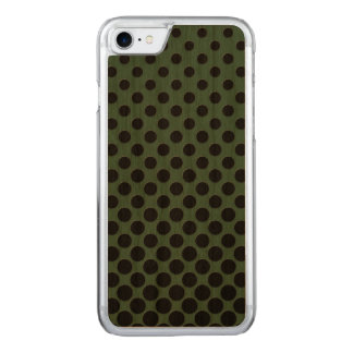 Cascading big to small black circles dark green carved iPhone 8/7 case