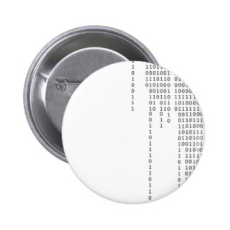Cascading Binary 6 Cm Round Badge