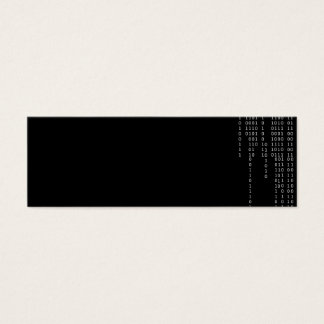 Cascading Binary Mini Business Card
