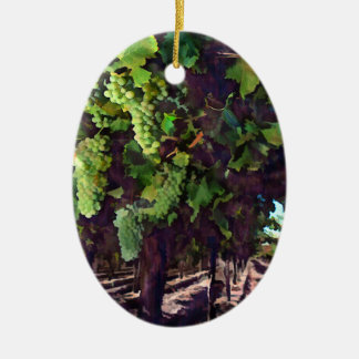 Cascading Grapes Christmas Ornament