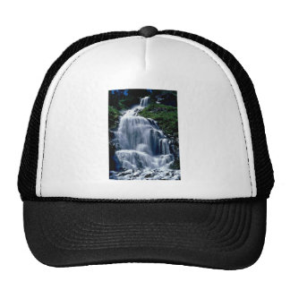Cascading Stream And Wildflowers flowers Mesh Hat