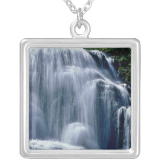 Cascading Stream And Wildflowers flowers Pendant