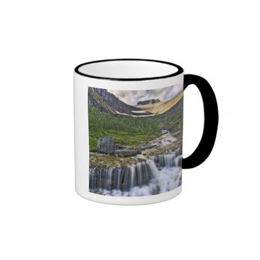 Cascading stream, Glacier National Park, Coffee Mugs