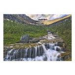 Cascading stream, Glacier National Park, Photograph