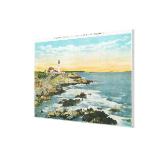 Casco Bay View of the Portland Head Lighthouse Canvas Print