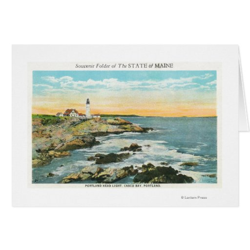 Casco Bay View of the Portland Head Lighthouse Cards