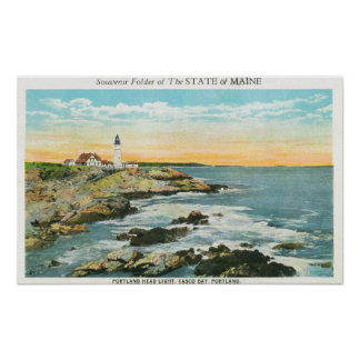 Casco Bay View of the Portland Head Lighthouse Posters
