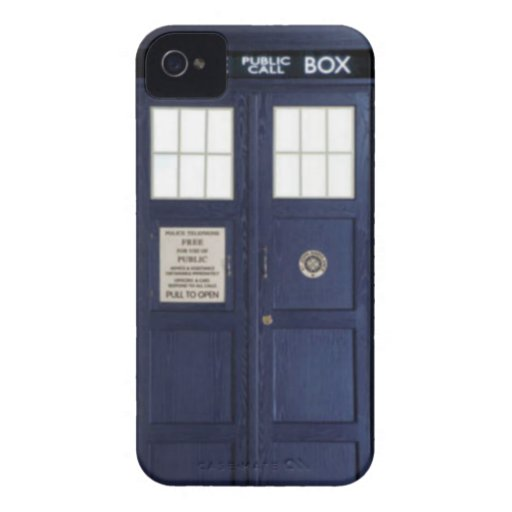 "CASE Blackberry bold ""POLICE BOX "" iPhone 4 Cover"
