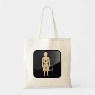 Case clothespin app canvas bag
