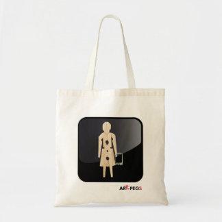 case clothespin app with logo canvas bag