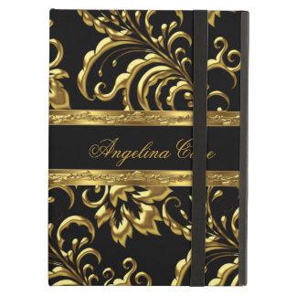 Case Elegant Gold black Damask Fashionable