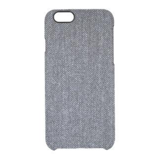 Case: Gray Tweed Fabric iPhone 6 Plus Case
