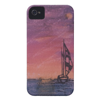 Case iPhone 4 with sailing boat: watercolor iPhone 4 Covers