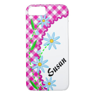 Case-Mate Barely There iPhone 7 Case Pink Gingham