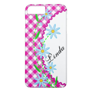 Case-Mate Barely There Plus iPhone 7 Pink Gingham