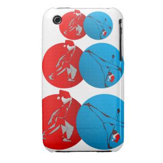 case mate capoeira martial arts santa xmas axe iPhone 3 Case-Mate case