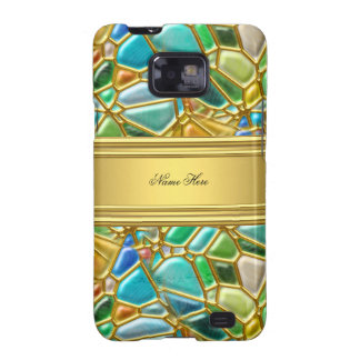 Case-Mate Case Gold Teal Blue Mosaic Image Galaxy SII Case